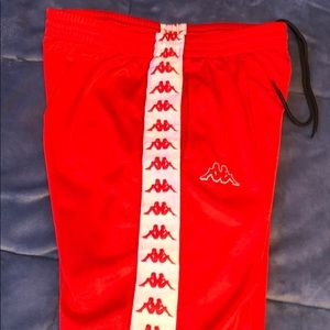 Kappa pants (red colored). Great condition.